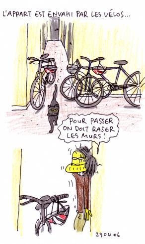 Envahissement de vélos