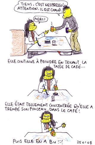 Café peinture