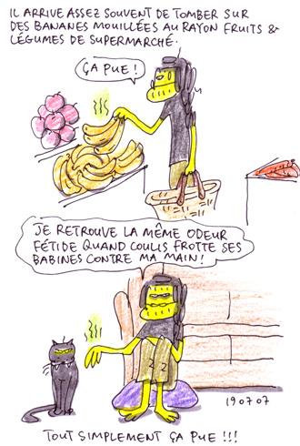 Banane mouillée & Coulis