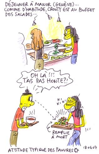 Déjeuner à Manor