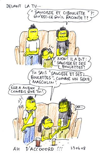 Saucisse et ciboulette