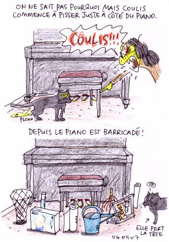 Piano barricadé