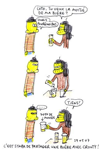 Bière partagée