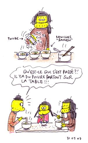 Table poivrée