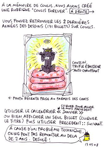 Nouvelle rubrique : Coulis Forever