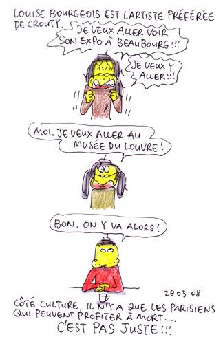 Louise Bourgeois, l'artiste préférée de Crouty