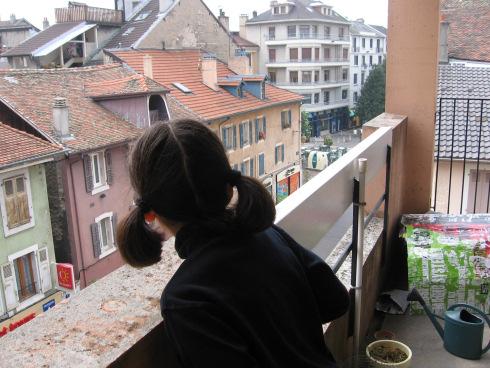 Sur le balcon