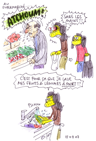 Lavez bien vos fruits & légumes !