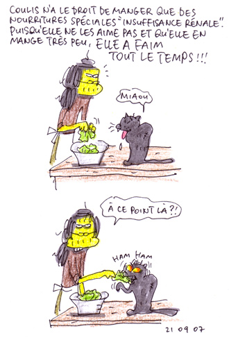Coulis affamée
