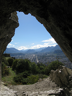 Paysage depuis la grotte