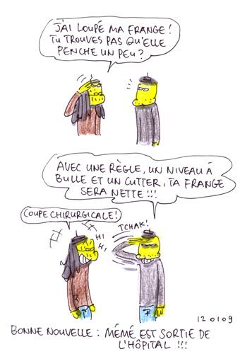 Frange penchée