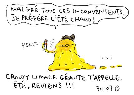 Crouty limace gluante