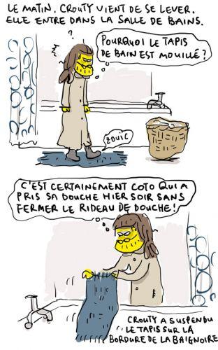 Tapis mouillé