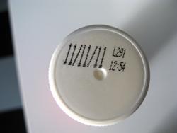 Flacon de crème liquide