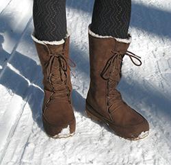 Et mes bottes à la neige