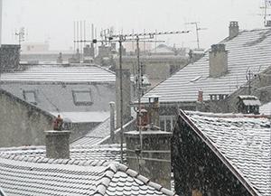 Il neige....